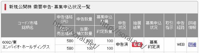 IPO(6092_エンバイオ・ホールディングス)