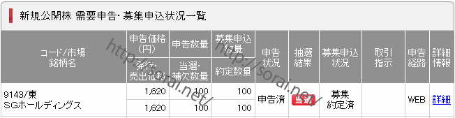 IPO(9143_SGホールディングス_SMBC日興証券)