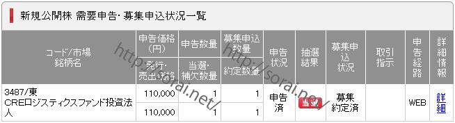 IPO(3487_CREロジスティクスファンド投資法人_SMBC日興証券)