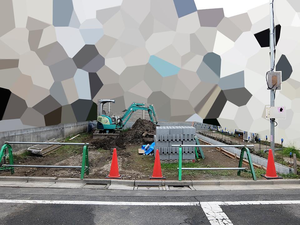 【注文住宅】【施工】隣地境界ブロック積み(1)