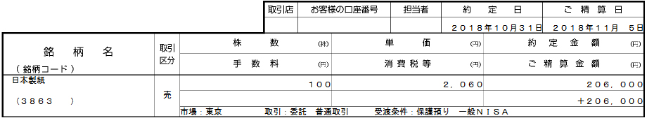 約定_売(3863_日本製紙_SBI証券_20181101)